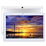 Android Tablet 10 Zoll Octa Core CPU 4GB RAM 64GB interner WiFi Kamera GPS Dual SIM ohne 3G Tablet Metallo Argento