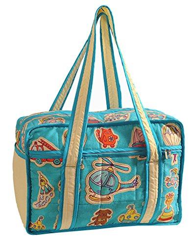 Yuga See Geschöpfe druckte wasserdichte Baby/Mädchen Kinderzimmer Reise Einkaufstasche Für Mütter Wasserblau