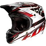 FOX V4 Race MX Helm, Farbe schwarz-rot, Größe M (57/58)