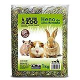 MovilCom® - Heno de Alta montaña para Hamster heno Natural para Mascotas pequeñas heno con Hierbas 1kg