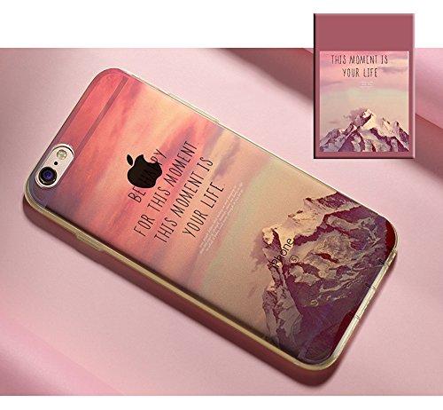 Coque iPhone 6s, Coque iPhone 6 Silicone TPU Paysage Créatif Souple Motif Landscape Etui Housse de Protection, Sunroyal® Premium Ultra Mince Case Cover Bumper pour Apple iPhone 6 6s - Aigle Animal Paysage 12