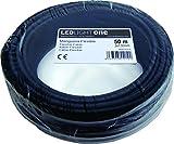 Led Light One H05VV-F Câble flexible 3x 1,5mm, 50m Noir