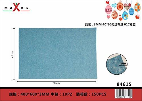 LinQ Filz-Platten Deko Dekoation Bastelfilz Handwerk Filzplatten Filz Polyester Felt Fabric DIY Stoff 400x600x3 mm Seeblau