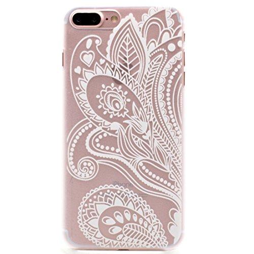 Hülle für iPhone 7 plus , Schutzhülle Für iPhone 7 Plus Mesh Blumenmuster Transparente PC Schutzhülle ,hülle für iPhone 7 plus , case for iphone 7 plus ( SKU : Ip7p1456c ) Ip7p1456k