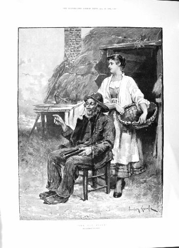 Alte Frauen-Blantyre-Kirche Nyassaland Afrika Sumph Pilot-1891 Davidson Knowles - Afrika Antique Print