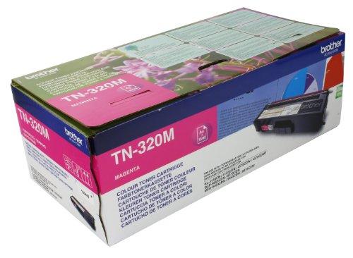 Preisvergleich Produktbild Brother Original Tonerkassette TN-320M magenta (für Brother HL-4140CN, HL-4570CDW, HL-4150CDN, HL-4570CDWT, DCP-9055CDN, DCP-9270CDN, MFC-9460CDN, MFC-9970CDW, MFC-9465CDN)