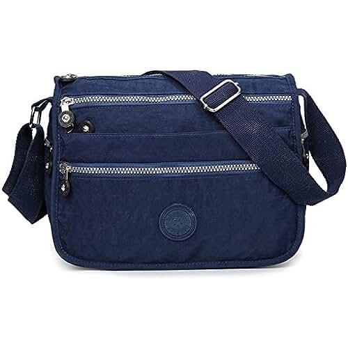 bolsos para el dia de la madre Las mujeres impermeable Nylon bolsas de mensajero Cruz cuerpo hombro bolsas Casual Multi bolsillo bolso Tote Bolso de mano caliente