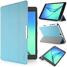 iHarbort® Samsung Galaxy Tab A 9.7 Funda - ultra delgado ligero Funda de piel de cuerpo entero para Samsung Galaxy Tab A 9.7 pulgada (SM-T550 SM-T555) (Galaxy Tab A 9.7, azul claro)