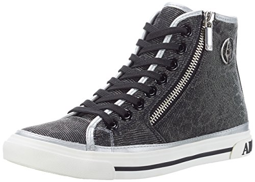 9252277p615 argento Damen Jeans Silber Sneakers Armani OwE0xqE