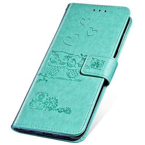 SainCat Funda Compatible con LG G3,Flip Cover Wallet Cuero PU Rosa Alto Grado Retro y Elegante...
