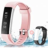 HolyHigh Fitness Tracker Smart Watch- Pink and Black