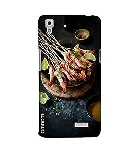 Omnam Grilled Sea Food Printed Designer Back Cover Case For Oppo R7