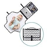 Fasciatoio Portatile di Momcozy, tappetino per cambio pannolino resistente all'acqua, kit fasciatoio da viaggio con borsa trasportabile, pieghevole e dotata di più tasche per madri di neonati