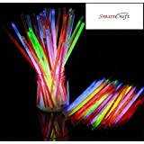 Smartcraft Glow Stick (Pack of 100),Light up Toys Glow Stick Bracelets Mixed Colors Party Favors Supplies,Tube of 100,(Diwali Glow Sticks)