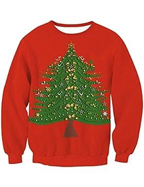 Suéter de Navidad de las mujeres - 2017 Otoño e Invierno Jersey de punto de moda Casual Sudadera de manga larga...