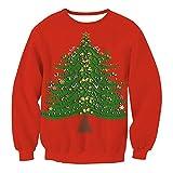 Chandail de Noël Pull pour Femme - Juleya Automne et Hiver Tops de Noël Sweat à capuche Pull en maille Pull à manches longues Sweatshirt