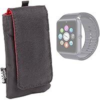 DURAGADGET Funda Acolchada Negra / Roja Para Smartwatch Mobiper G08 / Wiseup GT08 - Resistente Al Agua
