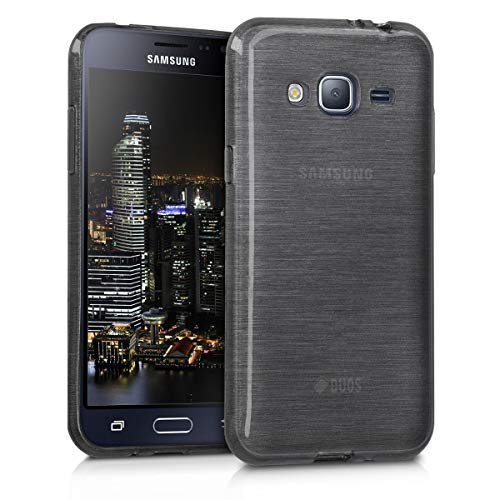 kwmobile Samsung Galaxy J3 (2016) Duos Hülle - Handyhülle für Samsung Galaxy J3 (2016) Duos - Handy Case in Anthrazit Transparent