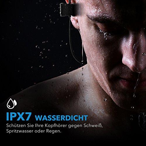 Mpow Flame Bluetooth Kopfhörer, IPX7 Wasserdicht Kopfhörer Sport, 7-10 Stunden Spielzeit/Bass+ Technologie, Sportkopfhörer Joggen/Laufen Bluetooth 4.1, In Ear Kopfhörer mit Mikrofon für iPhone Android - 2