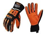 Seibertron HIGH-VIS SDXO2 Supergrip und GEL gefüllte Handschuhe mit Impact Schutz/Schlagfestes Öl abweisend Security mit Protektoren Bergbau Auswirkungen Handschuh L