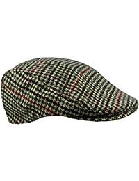 Pour femme et homme en Tweed à chevrons en laine acrylique-casquette plate de tailles variées