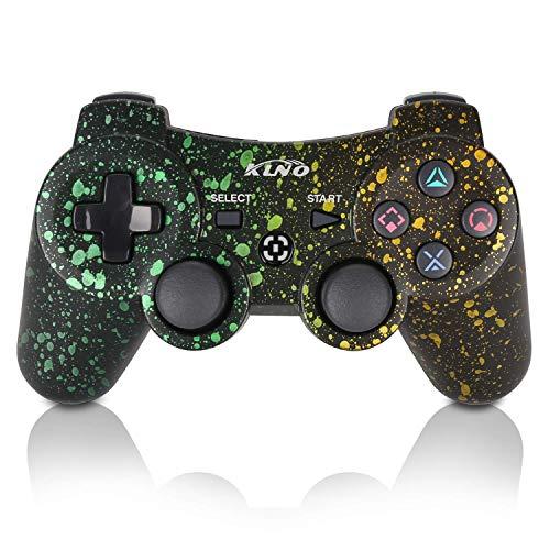 PS3Controller Wireless Dualshock Joystick-klno Bluetooth Gamepad-Achsen-, Super Power, USB Ladegerät, 6-Achsen, Dualshock3, 1Kabel Spot Art Color