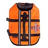 Kelis Dog Life Vest Doggy Swim Flotation Pet Preservativi con cinghie regolabili e manico di salvataggio Arancione CW-JSY01 (M)