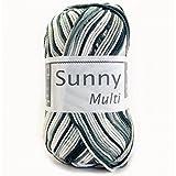CHEVAL BLANC Coton à Tricoter Sunny Multico 405 Noir Multi