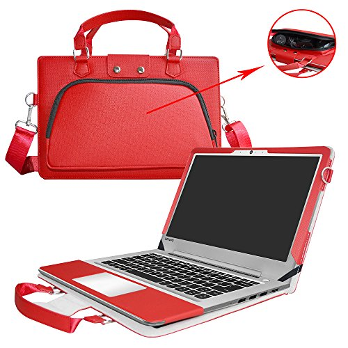 Ideapad 510s 14 Zoll Hülle,2 in 1 Spezielles Design eine PU Leder Schutzhülle + portable Laptoptasche für 14