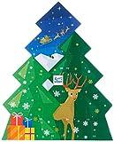 RITTER SPORT Schokowürfel Adventskalender (208 g), Weihnachtskalender zum Aufhängen, 26 Schokoladen-Würfel, 7 leckere Sorten, in Tannenform