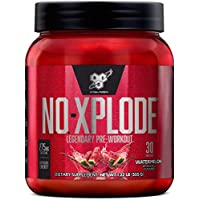BSN N.O.-XPLODE Legendary Pre-Workout Supplement with Creatine, Beta-Alanine, and Energy, Dietary Supplement,1.22 LB (555 G), Watermelon, 30 Servings