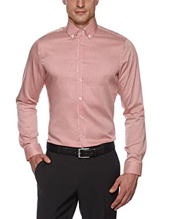 Schwarze Rose Herren Businesshemd Slim Fit 227202, Gr. 40, Orange (67 orange)