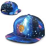 Drollpoe Berretti da Baseball Unisex Mad Max Fury Road Galaxy Galaxy Hip Hop Cappello Tesa Piatta Tesa Blu