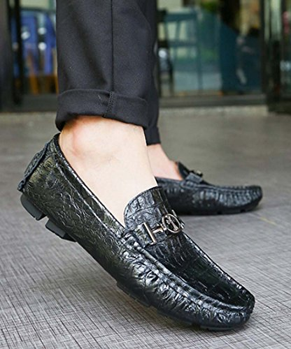 Scarpe Da Uomo Mocassini Piatti Scarpe Da Guida In Pelle Scarpe Di Sicurezza Scarpe Formali Casual Di Grandi Dimensioni Black