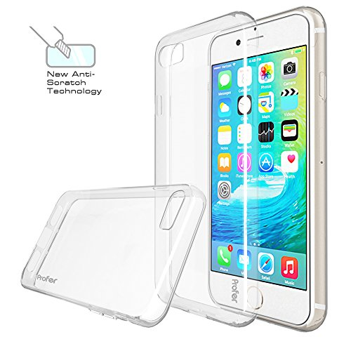 iPhone 7, iPhone 8 Hülle, Profer TPU Schutzhülle Tasche Case Cover Kratzfest Weich Flexibel Silikon für Apple iPhone 7, iPhone 8 (durchsichtig)