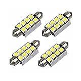 LEDMOMO 10 Stück 42mm LED Soffitten SMD Auto KFZ Innenbeleuchtung