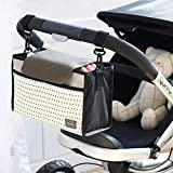 Babies Bloom White Baby Pram/Stroller Organizer Bag/Nappy Diaper Bag