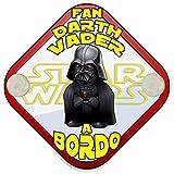 Placa bebé a bordo fan Darth Vader a bordo Star Wars friki a bordo