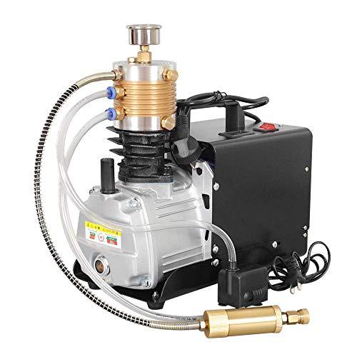 HUKOER Hochdrucksystem Gewehr Luftpumpe Einstellbare Auto-Stop Elektrische Luftkompressor für Luftgewehr Gewehr PCP Inflator Geeignet für Standard-Auto Motorräder und Fahrradreifen
