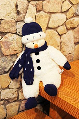 de XL - Deko aus hochwertigem Material mit super Outfit und tollen Details - perfekte Dekoration in Haus und Wohnung oder zum Verschenken in Winterzeit, Advent, Weihnachten - NEU (SCHNEEMANN MIT SCHAL Nr. 88011) (Schneemann Weihnachten)