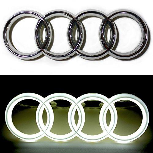 JetStyle Emblema LED per Audi, Marchio per Auto Griglia Anteriore