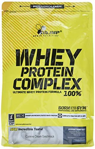Olimp Whey Protein Complex 100% | Powder Eiweiß-Pulver | BCAA-Aminosäuren | mit Süßstoffen, aspartamfrei | Cocktails Smoothies | Cookies & Cream Geschmack | 20 Portionen | 700 g Verpackung (Zitrone Und Kokos-wasser)