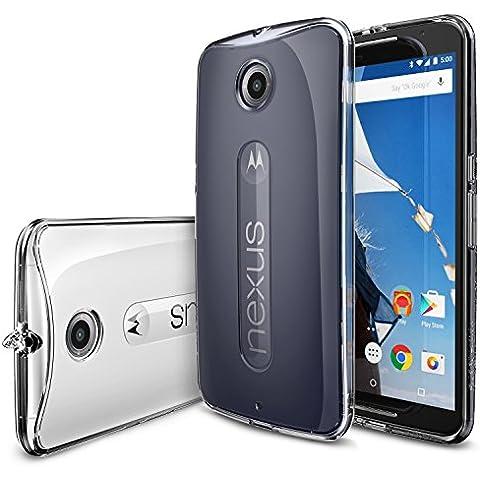 Nexus 6 Funda - Ringke FUSION ***Todo Nuevo Polvo Tapa Libre & Caída Protección*** [Protector de Pantalla Gratuito][CRYSTAL VIEW] Prima Crystal Clear Back Absorción de Choque de Parachoques del Funda Duro con Protección de Pantalla HD Gratis para Google Motorola Nexus 6 (No para Huawei Nexus 6P 2015) - Eco/DIY Paquete