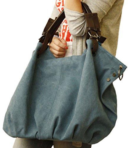928290b2b399e ... DATO Frauen Damen Fashion Casual Umhängetasche Tragetasche Canvas Große  Kapazität Handtasche Schultertasche Tote Taschen Shopper Bag ...