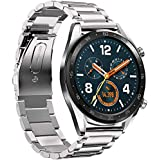 SKEIDO Stainless Steel Quick Release for Huawei Watch GT Replacement Band Wrist Strap