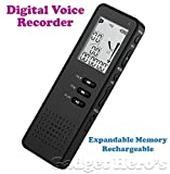 Gadget Hero's 8GB Portable Rechargeable Multifunctional Digital Voice Recorder / Audio Dictaphone With