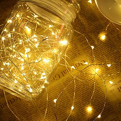 SayHia Solarbetriebene Lichterketten, 40 LED Kupferdrahtlichter, Sternenlichter, Wasserdichte dekorative IP65-Weihnachtslichter für Outdoor, Hochzeit, Häuser, Party, Halloween,4 Reis