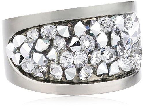 S. Oliver Damen-Ring Edelstahl Kristall weiß Gr. 54 (17.2) - 440332