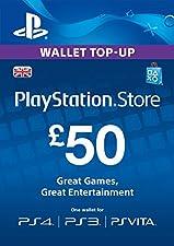 PlayStation PSN Card 50 GBP Wallet Top Up [PSN Download Code - UK account]