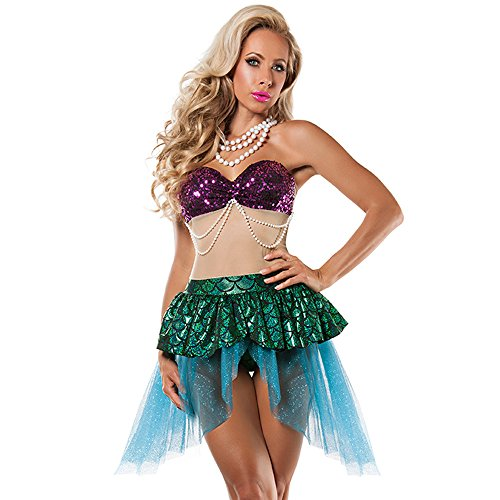 Verführerisches Meerjungfrau Kostüm für Damen Gr. 36 Mermaid Nixe